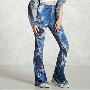 NWT Flared Tie-Dye Pants